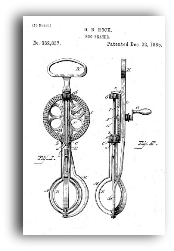 egg beater 1885 patent