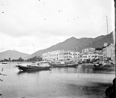 L0055633 The harbour, Hong Kong. Credit: Wellcome Library, London. Wellcome Images images@wellcome.ac.uk http://wellcomeimages.org The harbour, Hong Kong. Photograph by John Thomson, 1868/1871. 1868 By: J. ThomsonPublished: 1868/1871. Copyrighted work available under Creative Commons Attribution only licence CC BY 4.0 http://creativecommons.org/licenses/by/4.0/