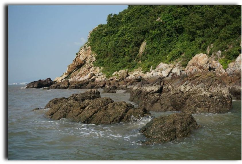 Hong Kong rocky coast