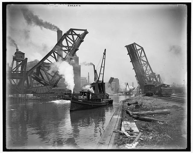 Bascule bridge Chicago 1890 LOC