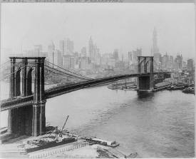 Brooklyn Bridge 1910 LOC