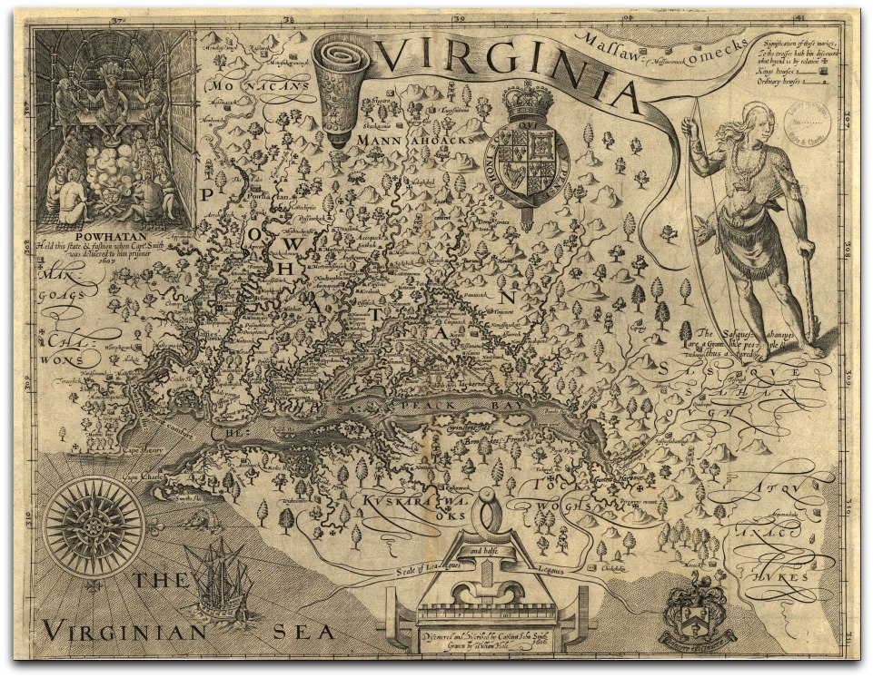 Captain Smith's Map of Viriginia LOC