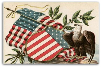 Eagle shield postcard 1907
