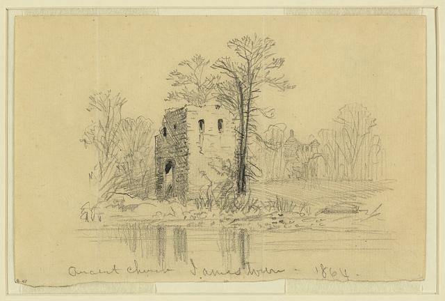 Jamestown 1864 sketch