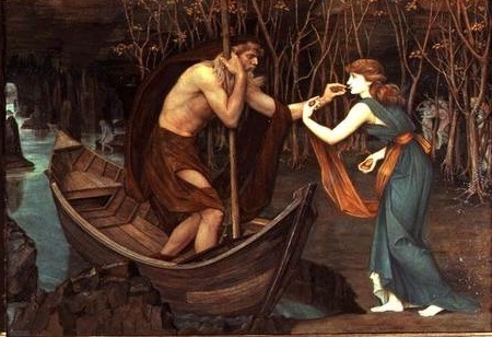 """Charon and Psyche"" by John Roddam Spencer Stanhope"